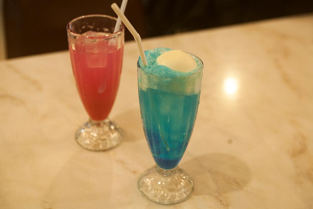 昭和の雰囲気漂うソーダ水