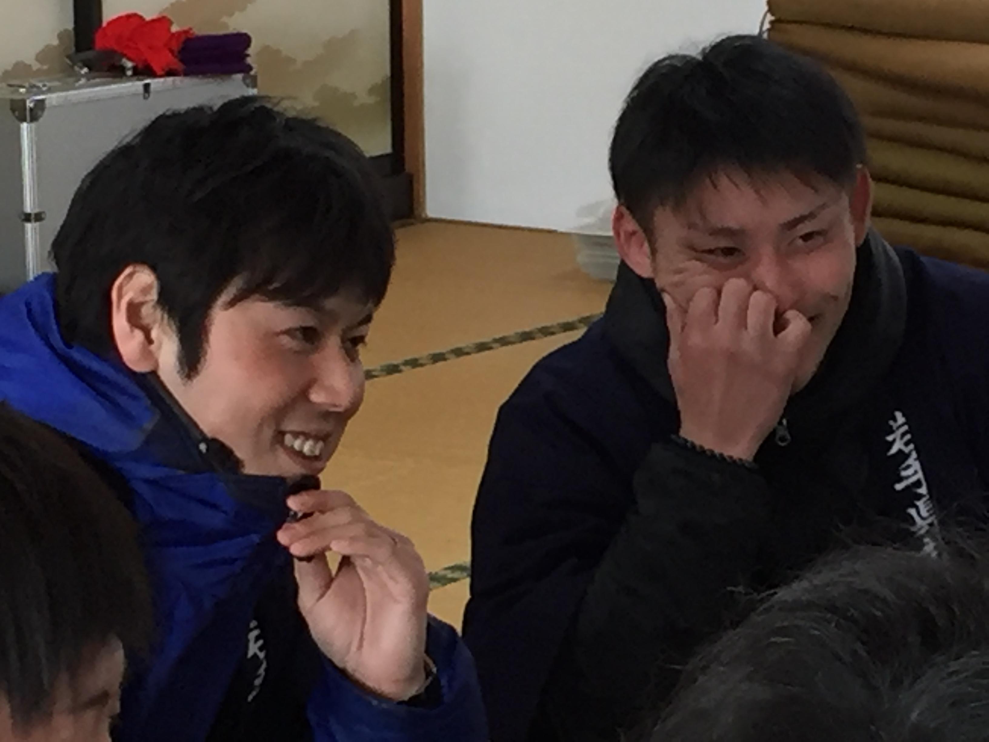 メンバーの宍戸透高さんと佐々木駿伍さん